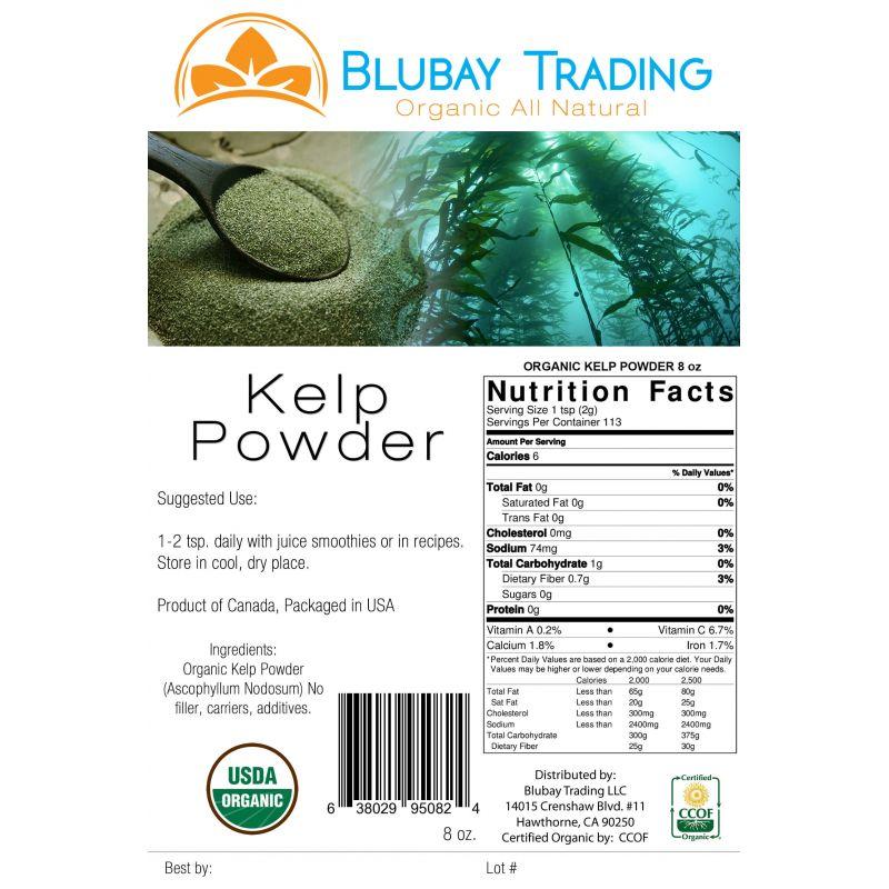 Kelp powder nutrition facts